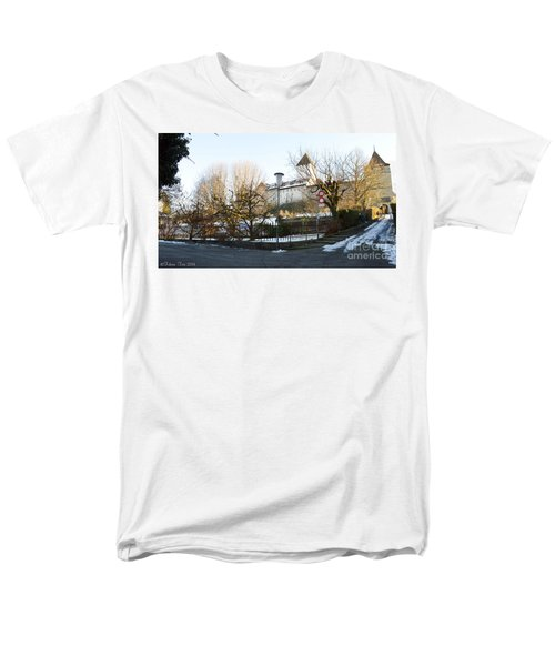 Men's T-Shirt  (Regular Fit) featuring the photograph The Castle In Winter Light by Felicia Tica