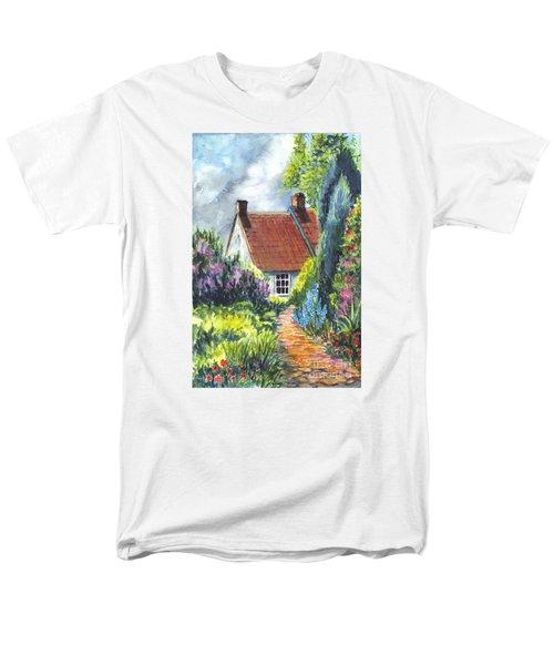 The Cottage Garden Path Men's T-Shirt  (Regular Fit) by Carol Wisniewski