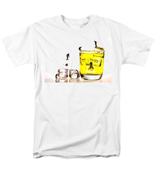 The Diving Little People On Food Men's T-Shirt  (Regular Fit) by Paul Ge