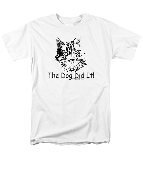 Men's T-Shirt  (Regular Fit) featuring the photograph The Dog Did It by Robyn Stacey