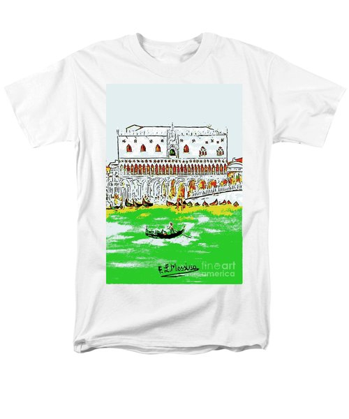 Men's T-Shirt  (Regular Fit) featuring the painting The Doge's Palace by Loredana Messina