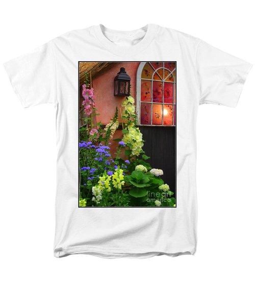 The English Cottage Window Men's T-Shirt  (Regular Fit) by Dora Sofia Caputo Photographic Art and Design