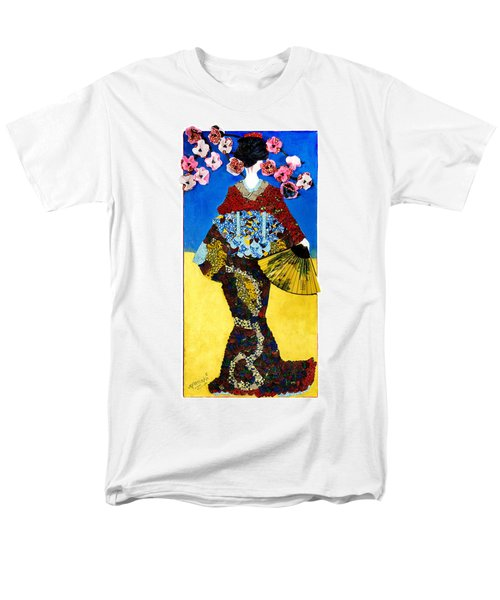 Men's T-Shirt  (Regular Fit) featuring the tapestry - textile The Geisha by Apanaki Temitayo M