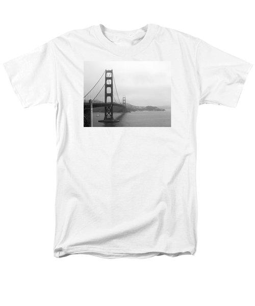 The Golden Gate Bridge In Classic B W Men's T-Shirt  (Regular Fit) by Connie Fox