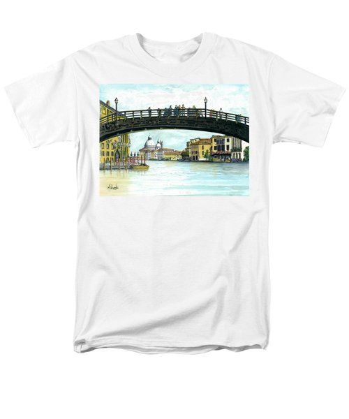 Men's T-Shirt  (Regular Fit) featuring the painting The Grand Canal Venice Italy by Albert Puskaric