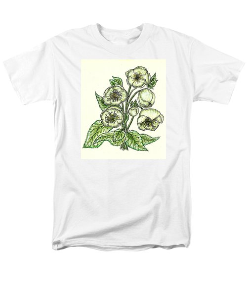 Men's T-Shirt  (Regular Fit) featuring the drawing The Helleborous by VLee Watson