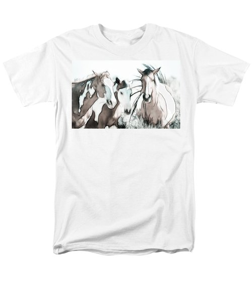 The Horse Club Men's T-Shirt  (Regular Fit) by Athena Mckinzie