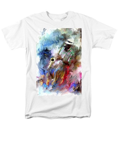 The Jazz Player Men's T-Shirt  (Regular Fit) by Evie Carrier