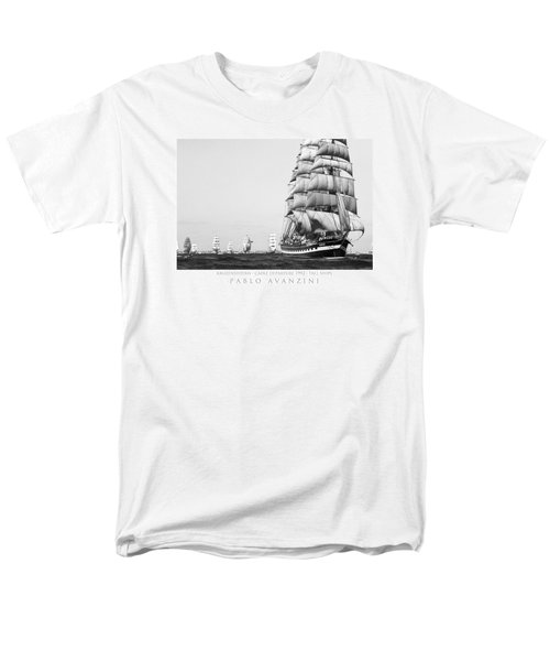 Men's T-Shirt  (Regular Fit) featuring the photograph The Kruzenshtern Departing The Port Of Cadiz by Pablo Avanzini