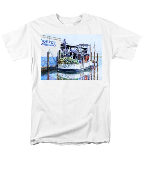 Men's T-Shirt  (Regular Fit) featuring the painting The Lily B by Roger Rockefeller