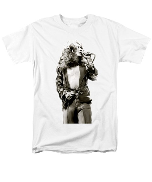 The Lion  Robert Plant Men's T-Shirt  (Regular Fit) by Iconic Images Art Gallery David Pucciarelli