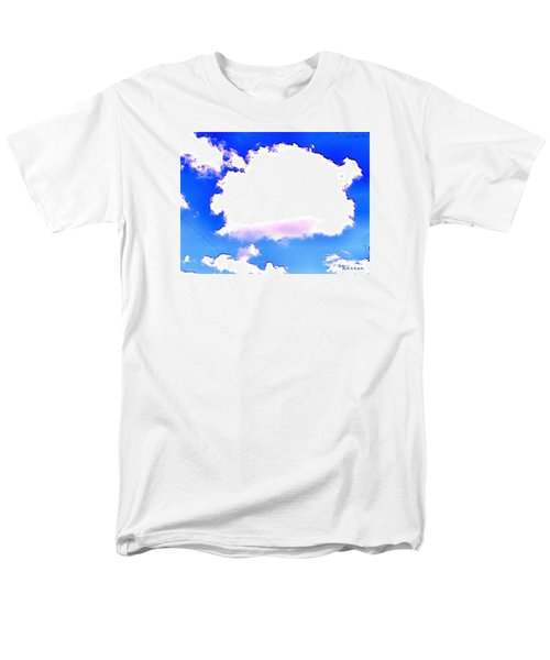 Men's T-Shirt  (Regular Fit) featuring the photograph The Little White Cloud That Cried by Sadie Reneau