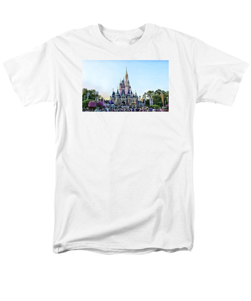 The Magic Kingdom Castle On A Beautiful Summer Day Horizontal Men's T-Shirt  (Regular Fit) by Thomas Woolworth