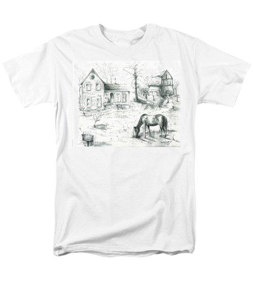 The Old Horse Farm Men's T-Shirt  (Regular Fit) by Bernadette Krupa