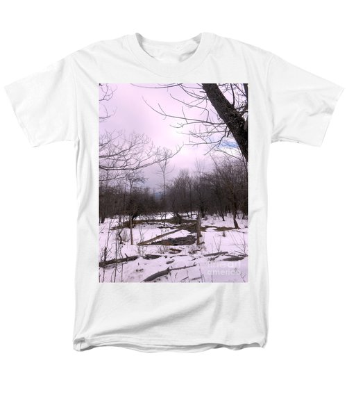 The Pink Winter Light On The Mountain Top Men's T-Shirt  (Regular Fit) by Patricia Keller