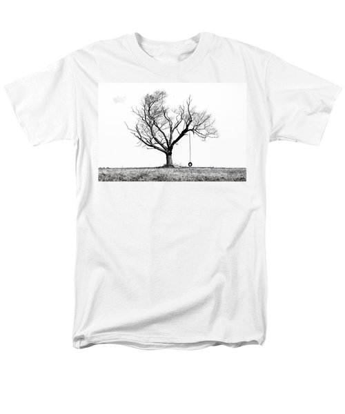 The Playmate - Old Tree And Tire Swing On An Open Field Men's T-Shirt  (Regular Fit)