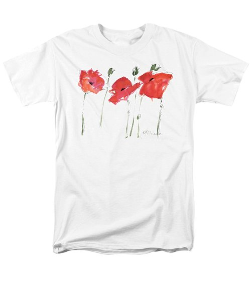 The Poppy Ladies Men's T-Shirt  (Regular Fit) by Kathleen McElwaine