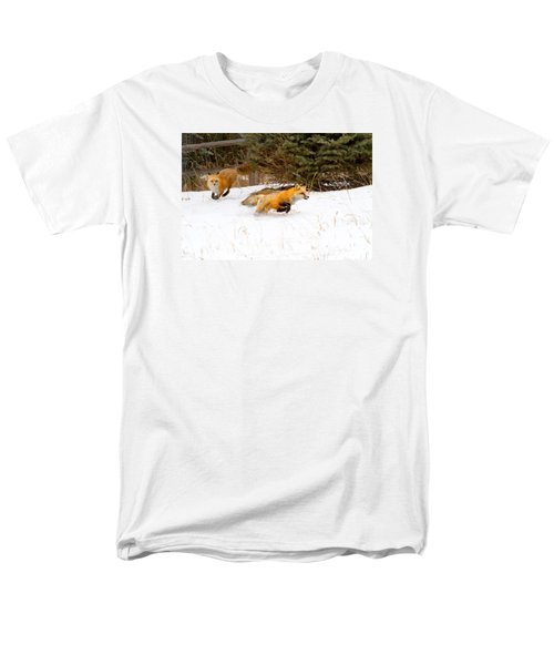 The Race Is On Men's T-Shirt  (Regular Fit) by Jim Garrison