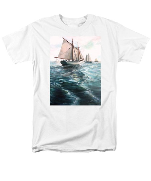 The Schooners Men's T-Shirt  (Regular Fit) by Eileen Patten Oliver