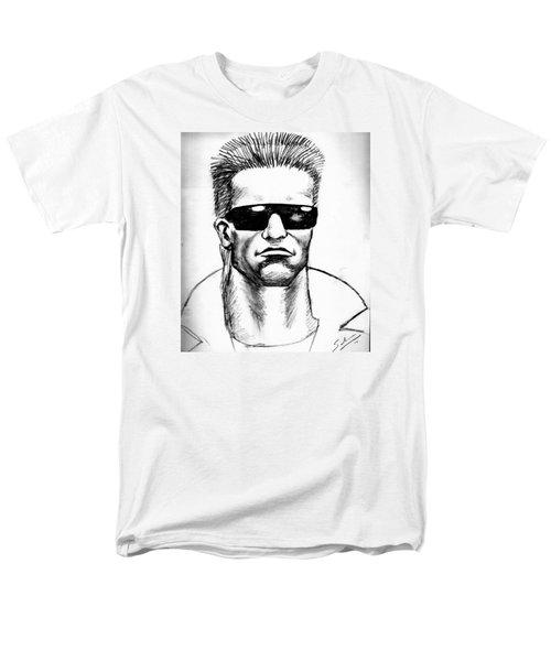 Men's T-Shirt  (Regular Fit) featuring the painting Arnold Schwarzenegger by Salman Ravish
