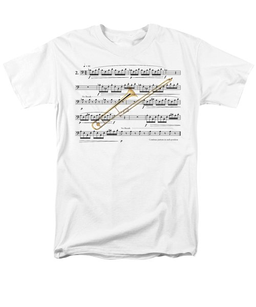 The Trombone Men's T-Shirt  (Regular Fit) by Ron Davidson