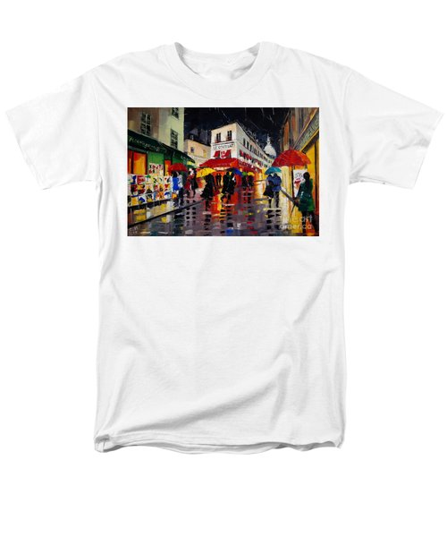 The Umbrellas Of Montmartre Men's T-Shirt  (Regular Fit)