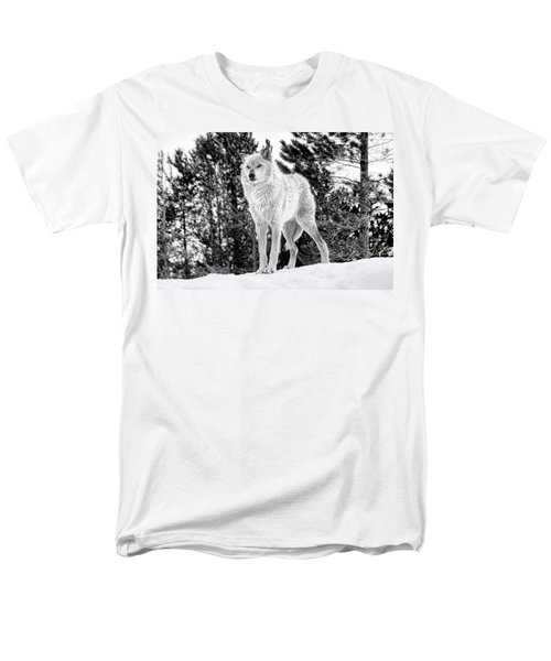 The Wolf  Men's T-Shirt  (Regular Fit) by Fran Riley