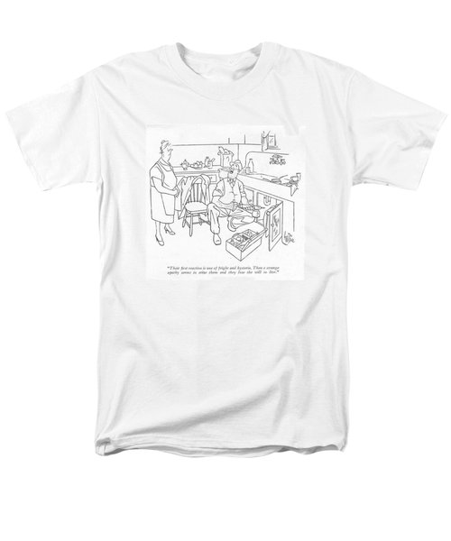Their ?rst Reaction Is One Of Fright Men's T-Shirt  (Regular Fit)