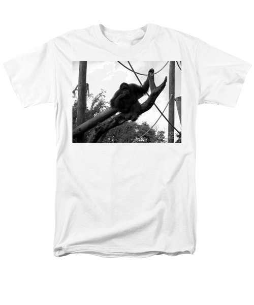 Men's T-Shirt  (Regular Fit) featuring the photograph Thinking Of You Black And White by Joseph Baril