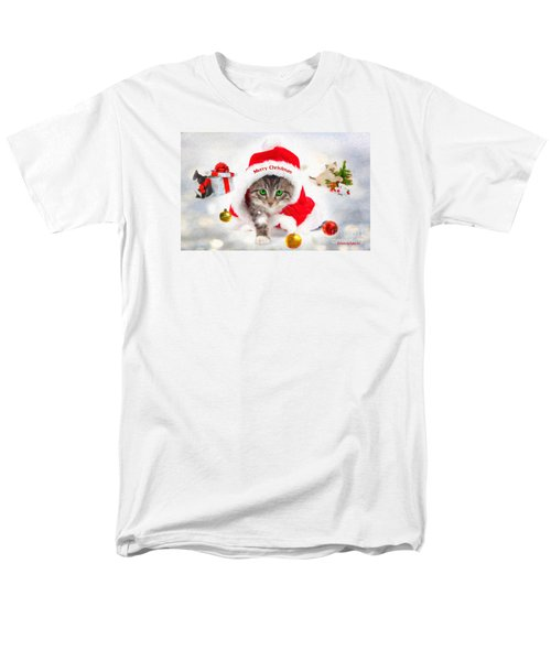 Men's T-Shirt  (Regular Fit) featuring the photograph Three Christmas Kittens by Chris Armytage