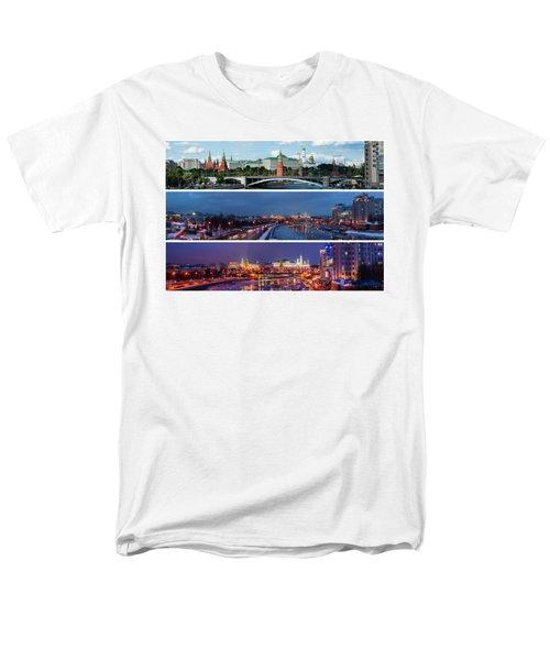 Three Panoramas Of Moscow Kremlin - Featured 3 Men's T-Shirt  (Regular Fit) by Alexander Senin