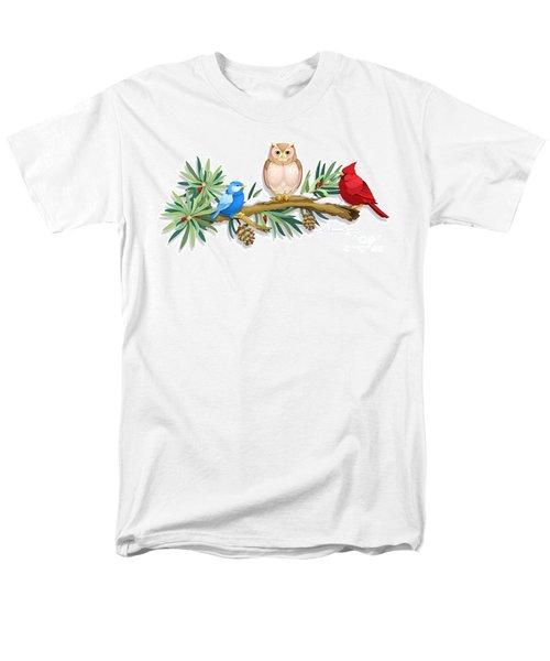 Three Watchful Friends Men's T-Shirt  (Regular Fit)