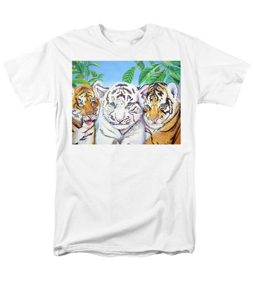 Men's T-Shirt  (Regular Fit) featuring the painting Tiger Cubs by Thomas J Herring