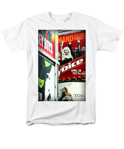 Times Square Billboards Men's T-Shirt  (Regular Fit) by Valentino Visentini
