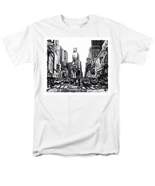 Times Square   New York City Men's T-Shirt  (Regular Fit)