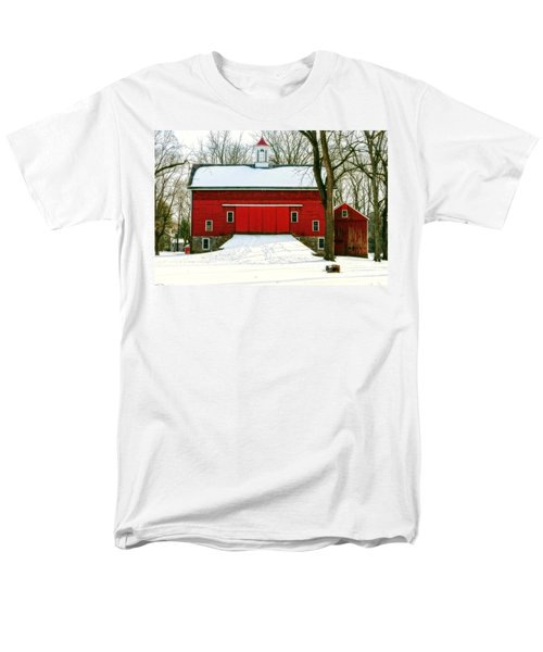 Tinicum Barn In Winter II Men's T-Shirt  (Regular Fit) by Debra Fedchin