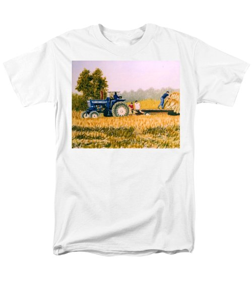 Men's T-Shirt  (Regular Fit) featuring the painting Tobacco Farmers by Stacy C Bottoms