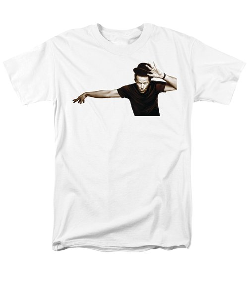 Tom Waits Artwork  4 Men's T-Shirt  (Regular Fit) by Sheraz A