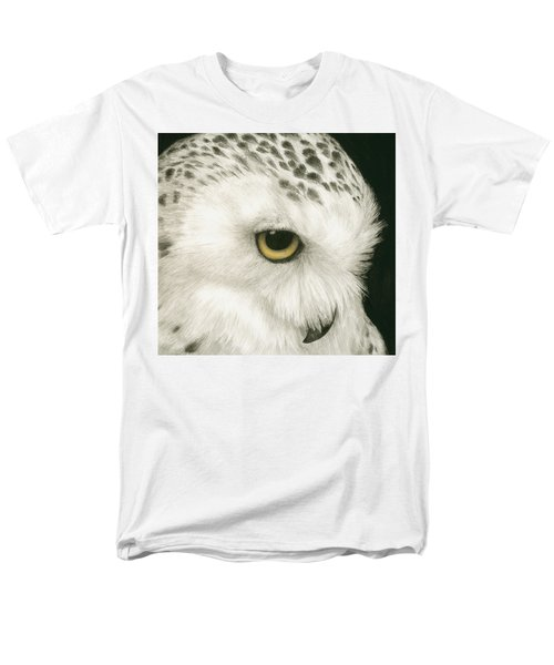 Men's T-Shirt  (Regular Fit) featuring the painting Topaz In The Snow by Pat Erickson