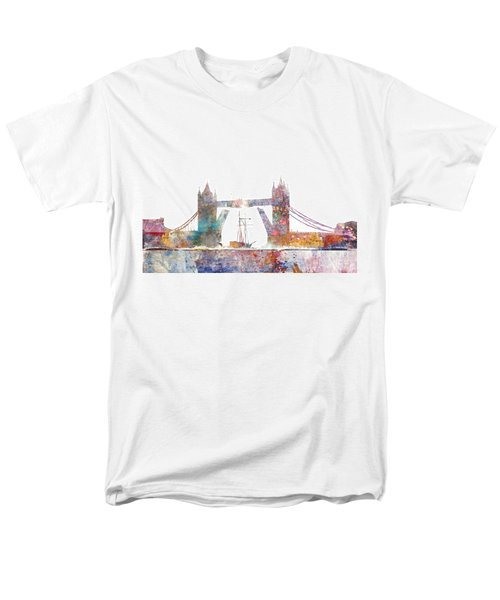 Tower Bridge Colorsplash Men's T-Shirt  (Regular Fit) by Aimee Stewart
