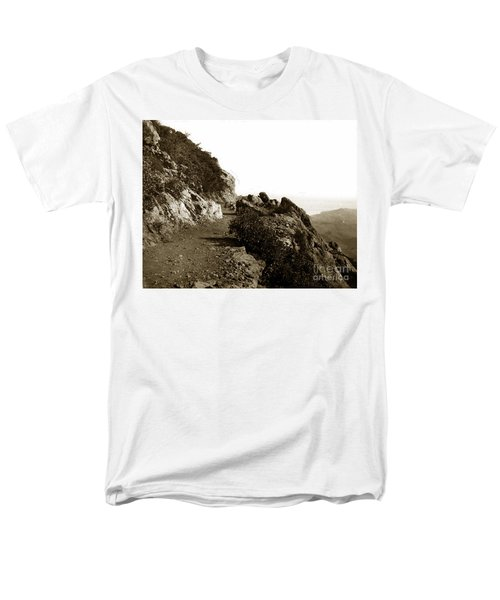Men's T-Shirt  (Regular Fit) featuring the photograph Trail On Mt. Tamalpais Marin Co California Circa 1902  by California Views Mr Pat Hathaway Archives