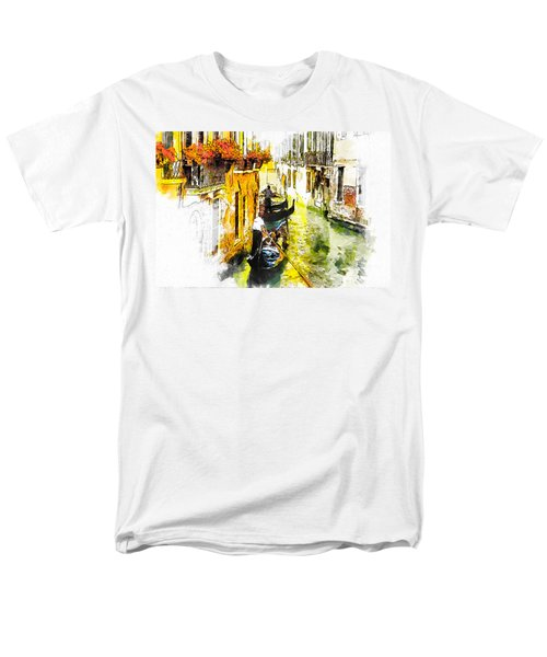 Men's T-Shirt  (Regular Fit) featuring the painting Tranquillity by Greg Collins