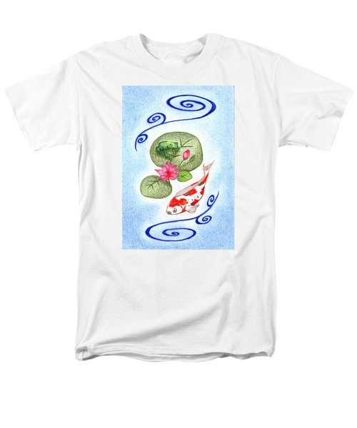 Men's T-Shirt  (Regular Fit) featuring the drawing Tranquility by Keiko Katsuta