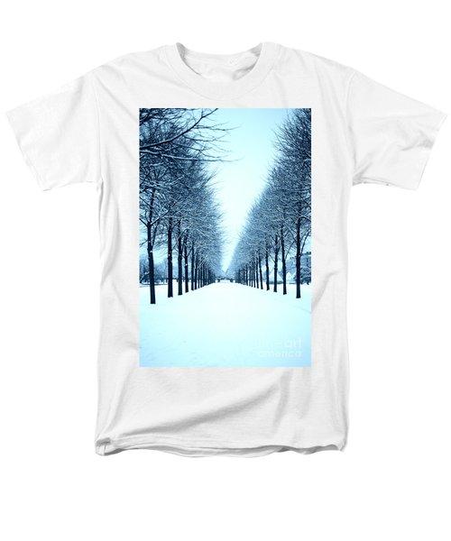 Tree Avenue In Snow Men's T-Shirt  (Regular Fit) by Lana Enderle