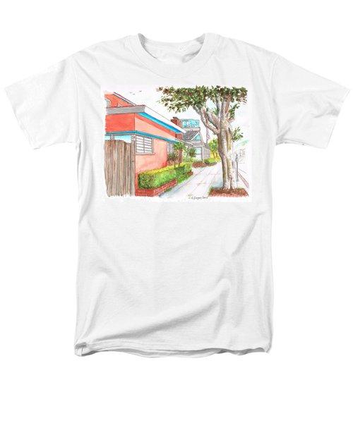 Tree In Laguna Riviera Hotel In Laguna Beach - California Men's T-Shirt  (Regular Fit) by Carlos G Groppa