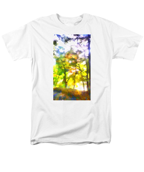 Men's T-Shirt  (Regular Fit) featuring the digital art Tree Leaves by Frank Bright