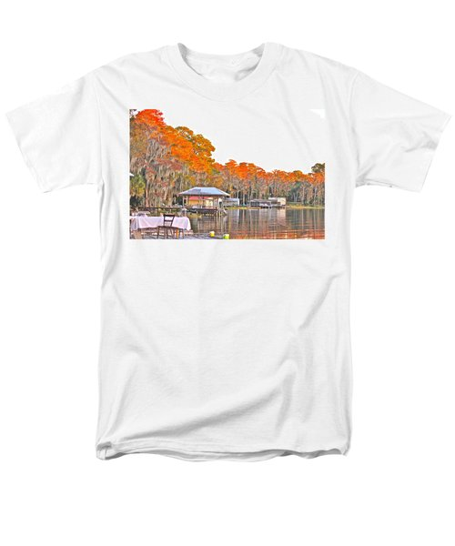 Men's T-Shirt  (Regular Fit) featuring the photograph Trees By The Lake by Lorna Maza