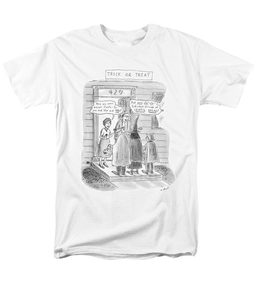 Trick Or Treat 'here Are Some Broccoli Florets - Men's T-Shirt  (Regular Fit) by Roz Chast