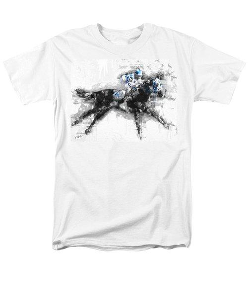 Secretariat Triple Crown 73 Men's T-Shirt  (Regular Fit) by Gary Bodnar