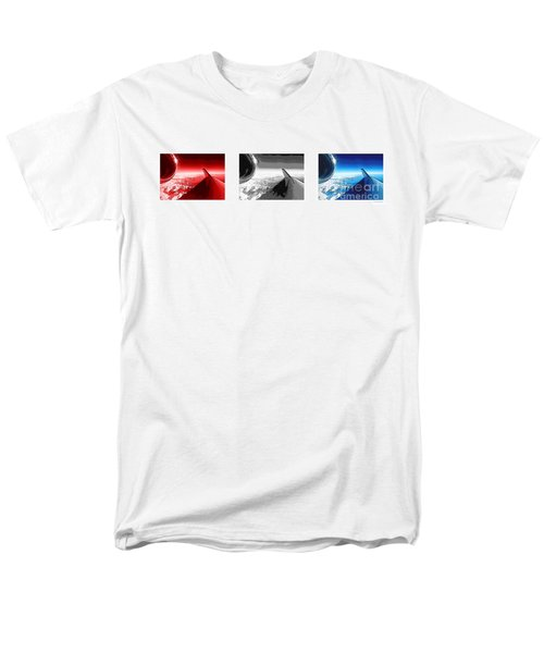 Men's T-Shirt  (Regular Fit) featuring the photograph Red White Black An White Blue An White Jet Pop Art Planes. by R Muirhead Art